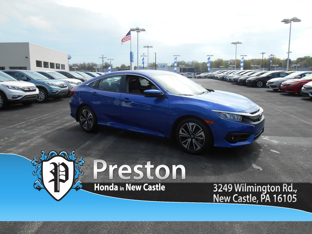 new 2016 honda civic ex l 4d sedan in new castle h16631 preston honda. Black Bedroom Furniture Sets. Home Design Ideas